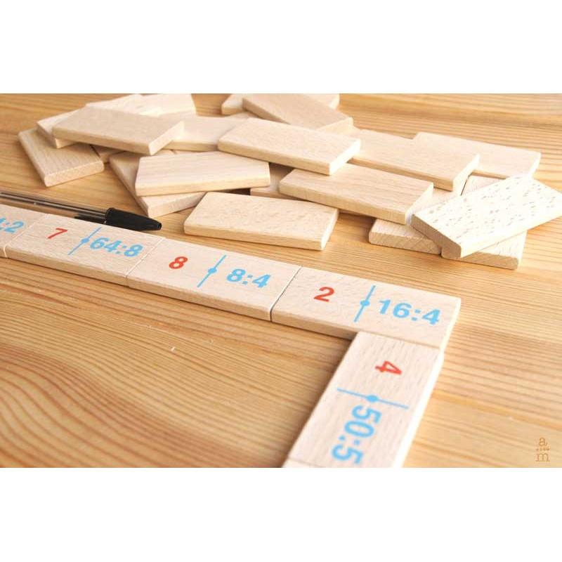 Domin madera divisiones aprendiendomatem ticas coop v - Divisiones en madera ...
