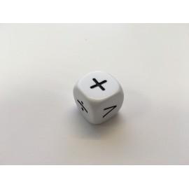 Bolsa 2 dados 16 mm. símbolos matemáticos