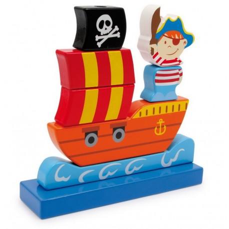 Barco pirata ensartable