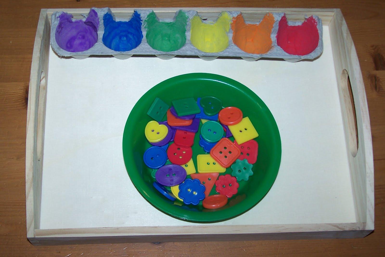 Lógica en infantil: clasificar por colores - Aprendiendo Matemáticas