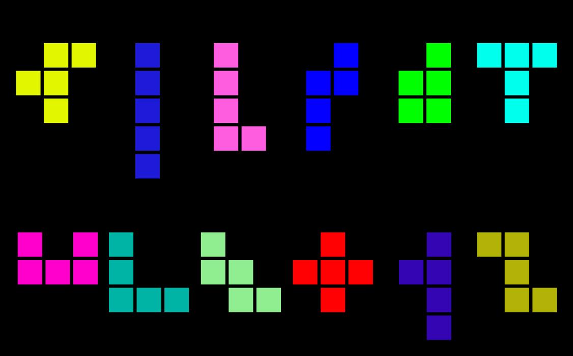 Pentominós con plantillas para imprimir - Aprendiendo Matemáticas