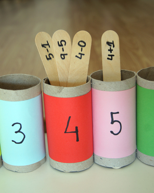 Resultado de imagen de juegos matematicas carton papel higienico