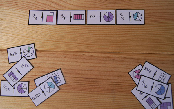 Domino De Fracciones Para Imprimir Aprendiendo Matematicas