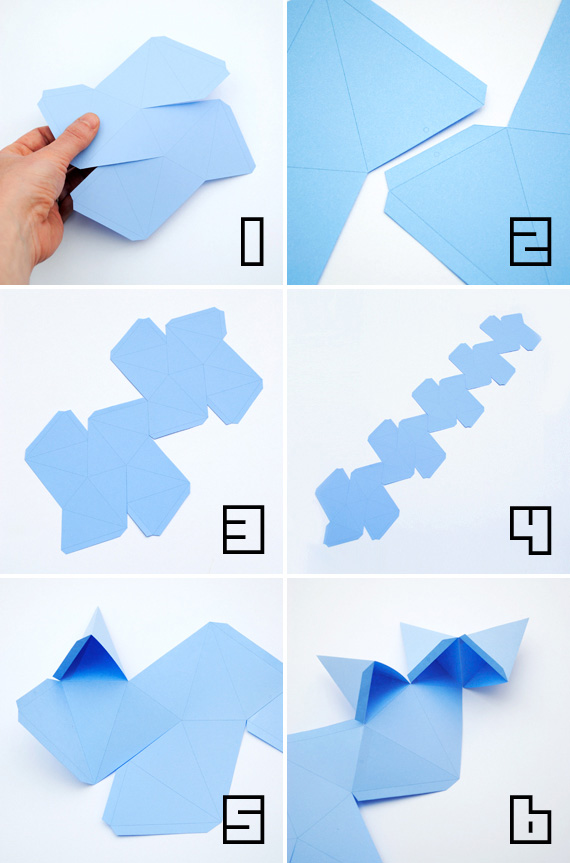 Construir un dodecaedro estrellado - Aprendiendo matemáticas