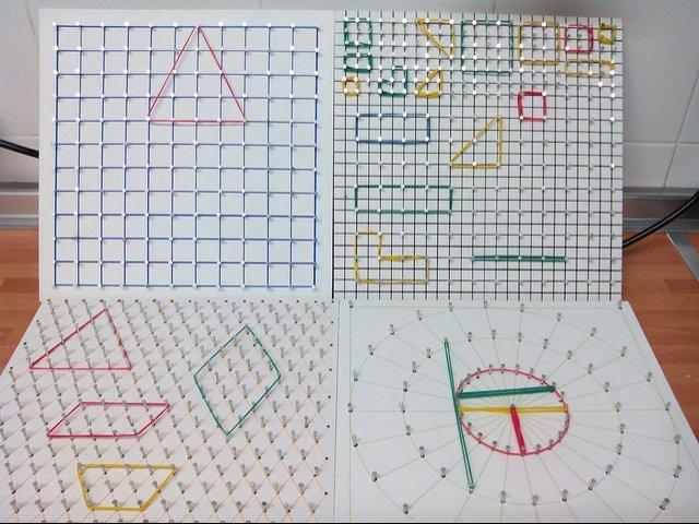 Fabricar un geoplano casero - Aprendiendo matemáticas
