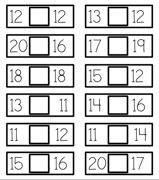 Una idea para trabajar mayor, menor o igual - Aprendiendo Matemáticas
