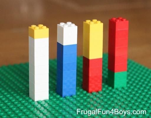 Fracciones Y Lego Bien Emparejados Aprendiendo Matematicas