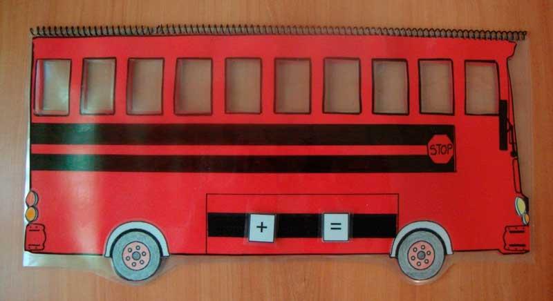 Autobús de sumas y restas - Aprendiendo matemáticas