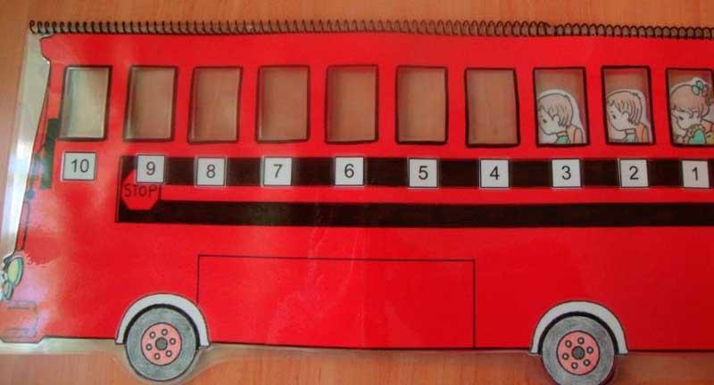 autobus de sumas y restas