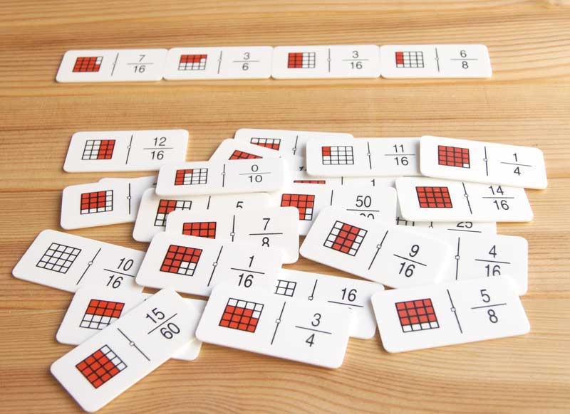 fracciones dominos