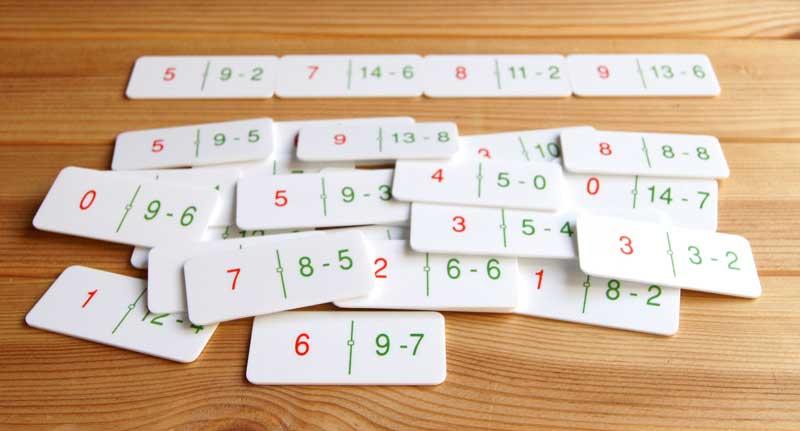 Actividades matemáticas con un dominó - Aprendiendo matemáticas