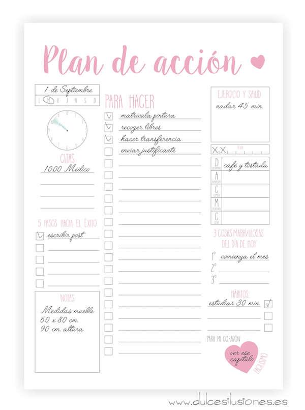 10 imprimibles gratuitos para planificar el curso (y tu vida ...