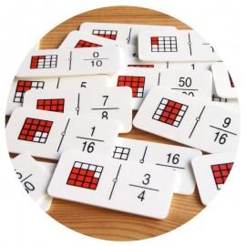 Dominó Fracciones (cuadrados)