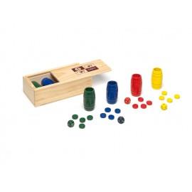 Accesorios parchís madera 4 jugadores