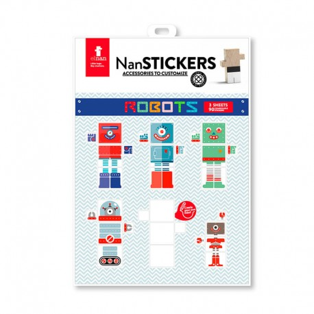 Nan stickers Robots (Pegatinas para los Nans)