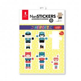 Nan stickers Heroes - Pegatinas para Nans