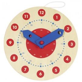 Reloj de madera de 18 cm