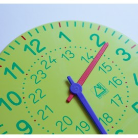 Reloj grande de plástico de 27 cm de diámetro