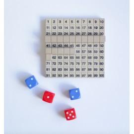 Juego de matemáticas con un tablero numérico - Decimal RE-Wood®