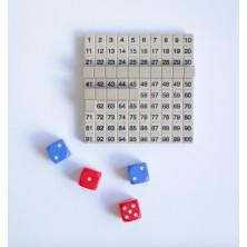 Juego con un tablero numérico
