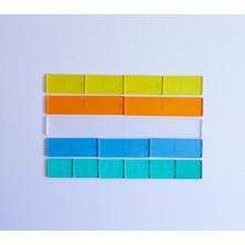 Fracciones lineales de plástico transparente