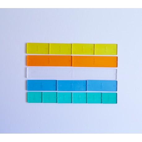 Fracciones lineales 51 ud de plástico