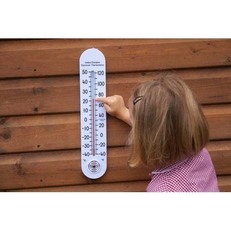 Termómetro de aula interior/exterior de 38 cm