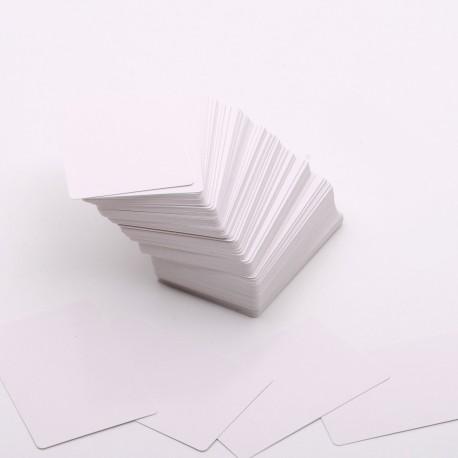 Set de 200 cartas con las 2 caras en blanco