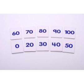 Set de 101 cartas con números del 0 al 100