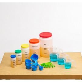 Set de medición de líquidos