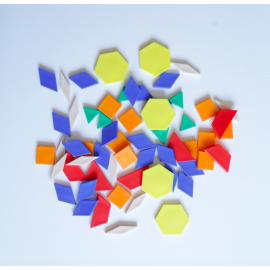 Bloques geométricos 250 piezas (en bolsa)