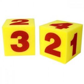 Dados grandes con números (2 ud)