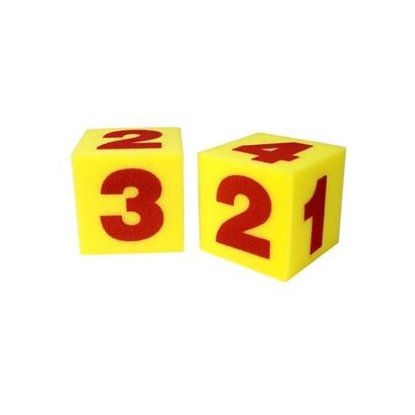 Dados grandes con números (Set  de 2)