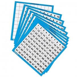 Tableros numéricos del 100 laminados (10 ud)