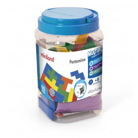 Set de 5 pentominos de colores