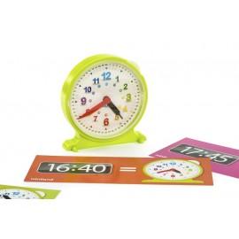 Reloj con fichas de actividades