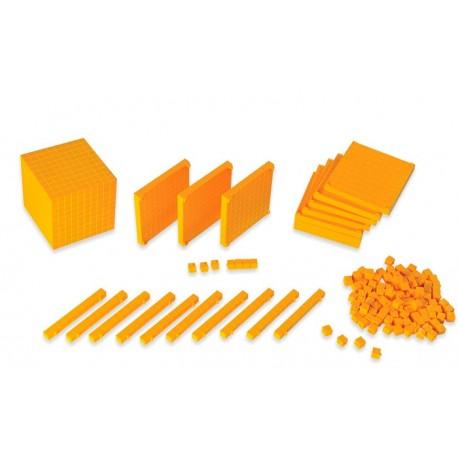 Material base 10 de plástico en caja
