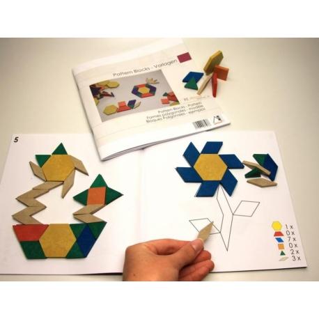 Libro con 25 propuestas para los bloques geométricos