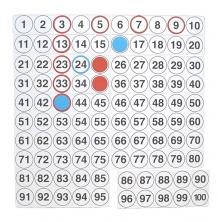 Tablero numérico del 100 magnético