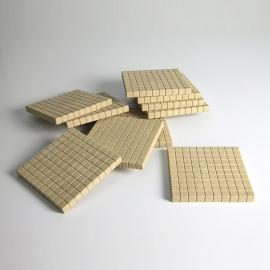 Centenas de madera reciclada