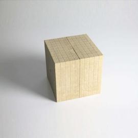 Cubo de madera reciclada 10x10x10 cm