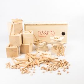 Material base 10 de madera  (caja grande)