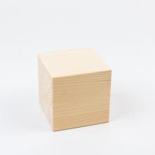 Cubo de madera natural 10x10x10 cm