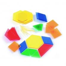 Bloques geométricos 245 piezas plástico traslúcido