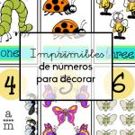Imprimibles de números para decorar