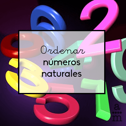 Ordenar números naturales