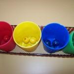 Cada bola en su color
