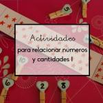 Actividades para relacionar números y cantidades I