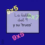 """La tabla del 9 y su """"truco"""""""