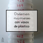Ordenar números con vasos de plástico